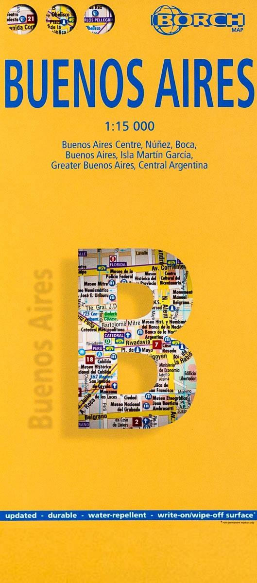 Buenos Aires 1:15.000 | stadsplattegrond 9783866093003  Berndtson / Borch   Stadsplattegronden Chili, Argentinië, Patagonië
