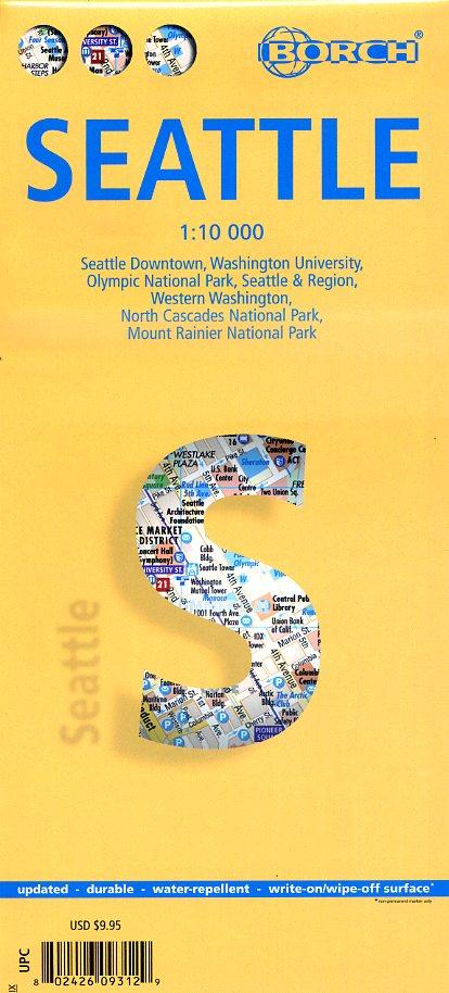Seattle 1:10.000   stadsplattegrond 9783866093126  Berndtson / Borch   Stadsplattegronden Washington, Oregon, Idaho, Wyoming, Montana