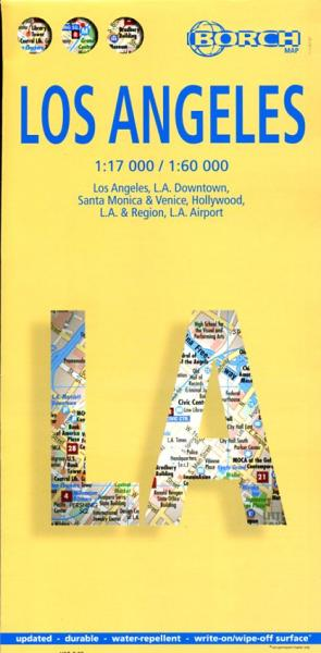 Los Angeles Map | stadsplattegrond 9783866093447  Berndtson / Borch   Stadsplattegronden California, Nevada