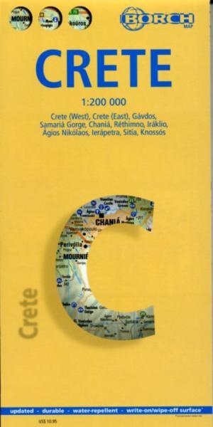 Kreta 1:200.000 | geplastificeerde wegenkaart 9783866093935  Berndtson / Borch   Landkaarten en wegenkaarten Kreta