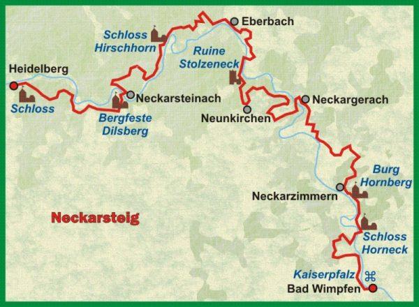 Neckarsteig   wandelgids (Duitstalig) 9783866865983  Conrad Stein Verlag Outdoor - Der Weg ist das Ziel  Meerdaagse wandelroutes, Wandelgidsen Heidelberg, Kraichgau, Stuttgart, Neckar