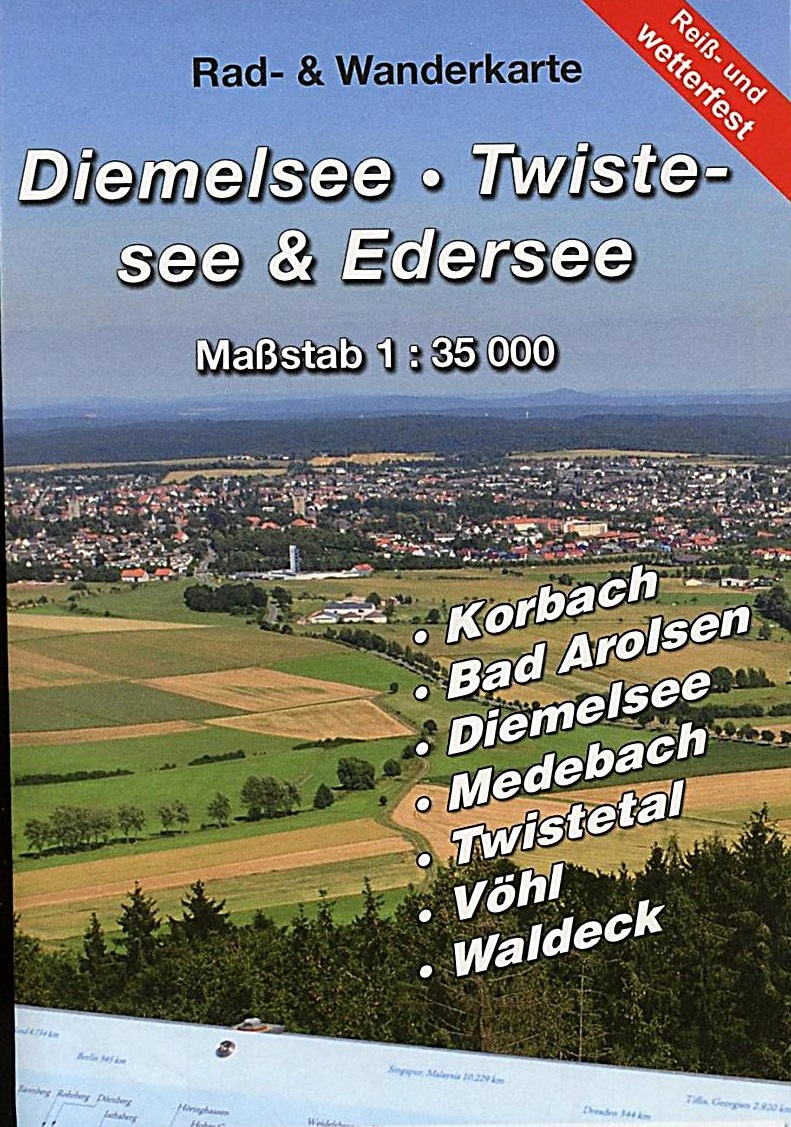 Diemelsee - Twistesee - Edersee 1:35.000 9783869731247  KKV Kartographische Kommunale Verlagsgesellschaft   Wandelkaarten Noord- en Midden-Hessen, Kassel