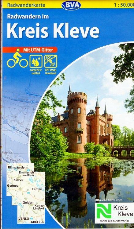 Radwandern im Kreis Kleve 9783870736651  BVA   Fietskaarten Niederrhein