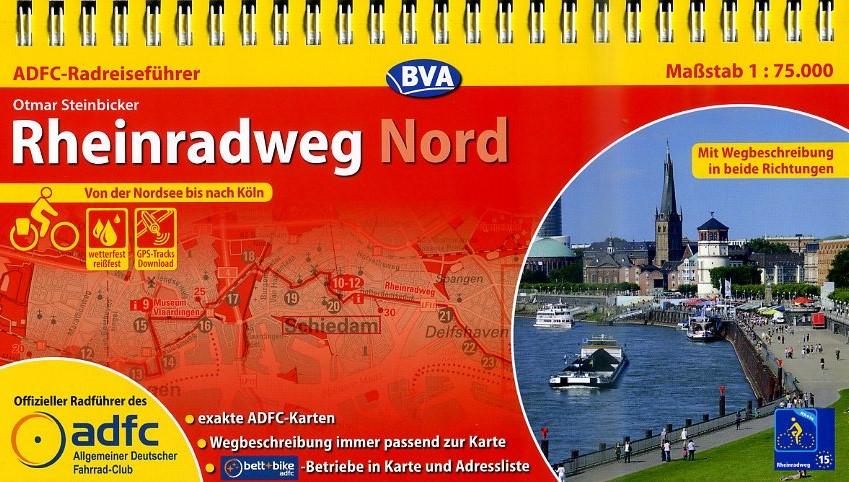 ADFC-Radreiseführer Rheinradweg (1) Nord 9783870736934  ADFC   Fietsgidsen, Meerdaagse fietsvakanties Duitsland