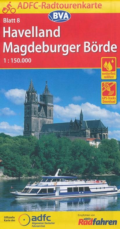 ADFC-08 Havelland/Magdeburger Börde | fietskaart 1:150.000 9783870737658  ADFC / BVA Radtourenkarten 1:150.000  Fietskaarten Brandenburg & Sachsen-Anhalt