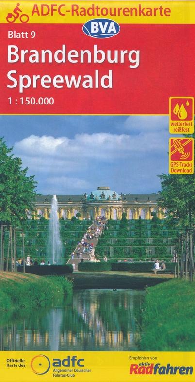 ADFC-09 Brandenburg/Spreewald | fietskaart 1:150.000 9783870737719  ADFC / BVA Radtourenkarten 1:150.000  Fietskaarten Brandenburg & Sachsen-Anhalt