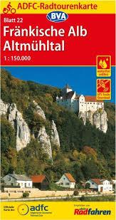 ADFC-22 Fränkische Alb/Altmühltal | fietskaart 1:150.000 9783870739010  ADFC / BVA Radtourenkarten 1:150.000  Fietskaarten Franken, Nürnberg, Altmühltal