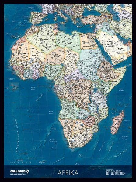 Afrika 9783871298011  Columbus   Wandkaarten Afrika