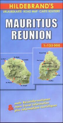 Mauritius/Reunion 1:125.000 9783889892874  Hildebrand   Landkaarten en wegenkaarten Seychellen, Reunion, Comoren, Mauritius