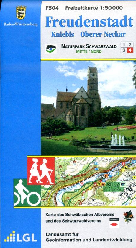 F504  Freudenstadt - Schramberg 9783890215976  LVA BW Baden-W. 1:50.000  Wandelkaarten Zwarte Woud