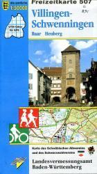 F507  Villingen - Schwenningen 9783890216003  LVA BW Baden-W. 1:50.000  Wandelkaarten Zwarte Woud