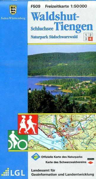F509 (4) Waldshut, Tiengen 9783890216027  LVA BW Baden-W. 1:50.000  Wandelkaarten Zwarte Woud