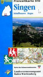 F510  Singen 9783890216034  LVA BW Baden-W. 1:50.000  Wandelkaarten Bodenmeer, Schwäbische Alb