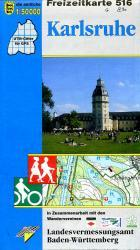 F516   Karlsruhe und Umgebung 9783890216096  LVA BW Baden-W. 1:50.000  Wandelkaarten Heidelberg, Kraichgau, Stuttgart, Neckar