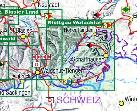 Klettgau, Wutachtal  1:35.000 9783890217512  LVA BW   Wandelkaarten Zwarte Woud