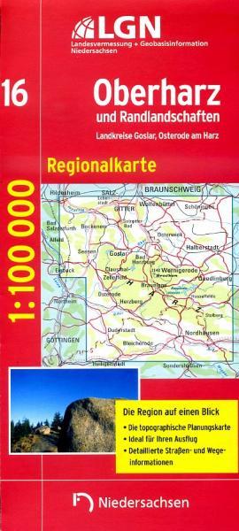 CR-16 Oberharz und Randlandschaften 9783894356651  LVA Niedersachsen Regionalkarten 1:100.000  Landkaarten en wegenkaarten Harz