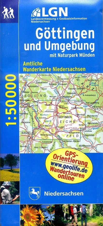 WL10  Göttingen u.Umg. | topografische wandelkaart 1:50.000 9783894356675  LVA Niedersachsen TK 50 NP 1:50.000  Wandelkaarten Lüneburger Heide, Hannover, Weserbergland