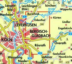 NRW-03 Bergisch Gladbach/Odenth.,Königsforst | wandelkaart 1:25.000 9783894396442  Geomap / LVA NRW Grüne Reihe  Wandelkaarten Düsseldorf, Wuppertal & Bergisches Land