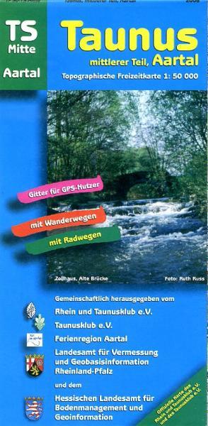 TS-Mitte  Taunus-Mittlerer Teil 1:50.000 9783894463984  LVA Hessen Wandelkaart Hessen  Wandelkaarten Frankfurt, Taunus, Rheingau