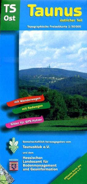 TS-Ost  Taunus-Östlicher Teil 1:50.000 9783894465094  LVA Hessen Wandelkaart Hessen  Wandelkaarten Frankfurt, Taunus, Rheingau
