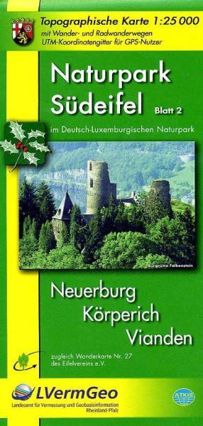 EV-27  NP Südeifel,  Blatt 2: Mitte | wandelkaart 1:25.000 9783896372741  Eifelverein Wandelkaarten Eifel  Wandelkaarten Eifel