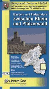 Rhein u. Pfälzerwald, Wandern u. radwandern zw. 9783896373021  LVA Rheinland-Pfalz SK 50 W 1:50.000  Wandelkaarten Pfalz, Deutsche Weinstrasse, Rheinhessen