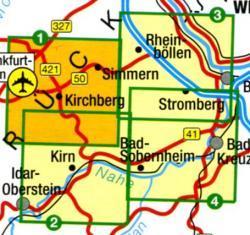 NP Soonwald-Nahe 1:25.000 Blatt 1 9783896373724  LVA Rheinland-Pfalz Wanderkarten 1:25.000  Wandelkaarten Saarland, Hunsrück