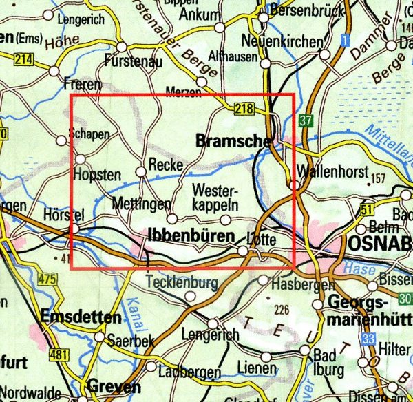 Nördliches Tecklenburger Land   wandelkaart 1:25.000 9783897105577  Bonifatius Grüne Reihe  Wandelkaarten Teutoburger Woud & Ostwestfalen