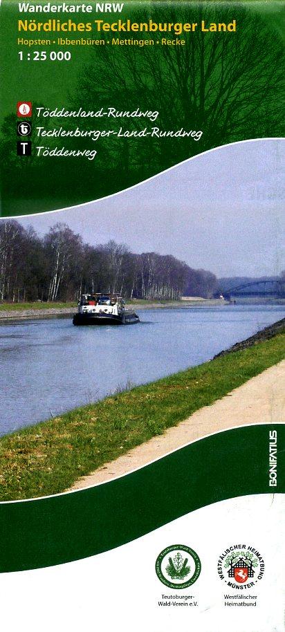 Nördliches Tecklenburger Land | wandelkaart 1:25.000 9783897105577  Bonifatius Grüne Reihe  Wandelkaarten Teutoburger Woud & Ostwestfalen