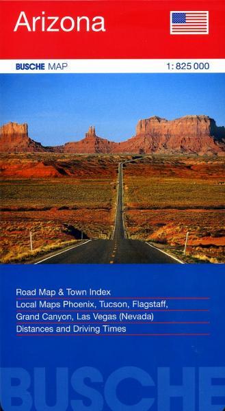 Arizona 1:825.000 9783897641389  Busche   Landkaarten en wegenkaarten Colorado, Arizona, Utah, New Mexico