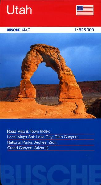 Utah 1:825.000 9783897641396  Busche   Landkaarten en wegenkaarten Colorado, Arizona, Utah, New Mexico
