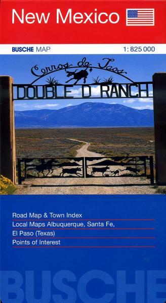 New Mexico 1:825.000 9783897641518  Busche   Landkaarten en wegenkaarten Colorado, Arizona, Utah, New Mexico