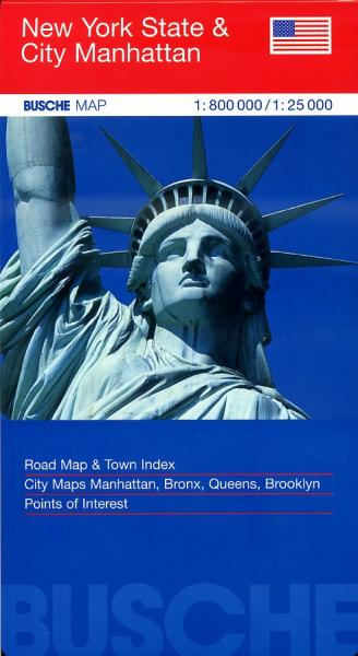 New York State 1:800.000 9783897641754  Busche   Landkaarten en wegenkaarten New York, Pennsylvania, Washington DC