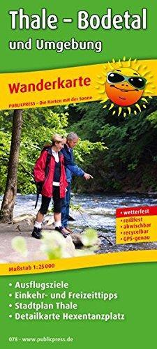 Thale - Bodetal 1:25.000 9783899200782  Publicpress Wandelkaarten - mit der Sonne  Wandelkaarten Harz