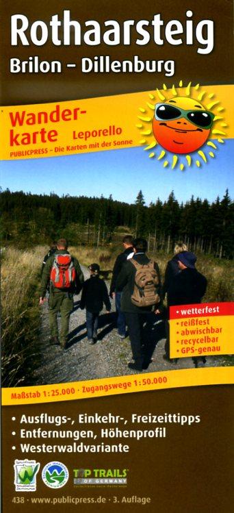 Rothaarsteig, wandelkaart 1:25.000 9783899204384  Publicpress Wandelkaarten - mit der Sonne  Meerdaagse wandelroutes, Wandelkaarten Sauerland