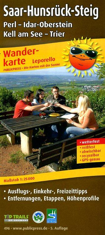 Saar-Hunsrück-Steig (1) 1:25.000 9783899204964  Publicpress Wandelkaarten - mit der Sonne  Meerdaagse wandelroutes, Wandelkaarten Saarland, Hunsrück