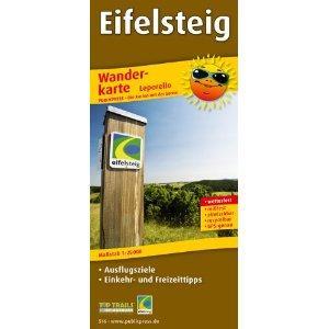 Eifelsteig 1:25.000 9783899205169  Publicpress Wandelkaarten - mit der Sonne  Meerdaagse wandelroutes, Wandelkaarten Eifel