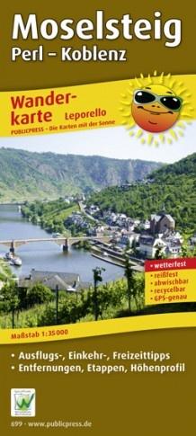Moselsteig 1:35.000 9783899206999  Publicpress Wandelkaarten - mit der Sonne  Meerdaagse wandelroutes, Wandelkaarten Moezel, van Trier tot Koblenz