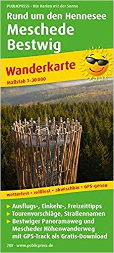 Rund um den Hennesee  / Meschede / Bestwig 1:30.000 9783899207880  Publicpress Wandelkaarten - mit der Sonne  Wandelkaarten Sauerland