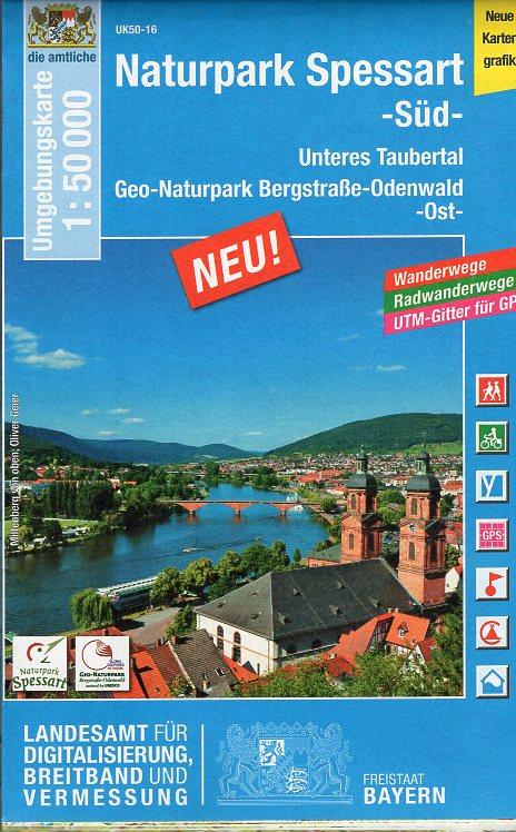 L22 N.P. Spessart  Blatt Süd 9783899335569  LVA Bayern UmgebungsKarte 1:50.000  Wandelkaarten Franken, Nürnberg, Altmühltal, Odenwald, Spessart en Rhön