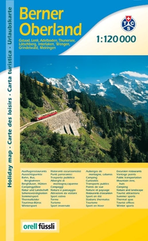Berner Oberland 1:120.000 | MPA wandelkaart 9783905706949  Orell Füssli MPA  Landkaarten en wegenkaarten Berner Oberland, Basel, Jura, Genève