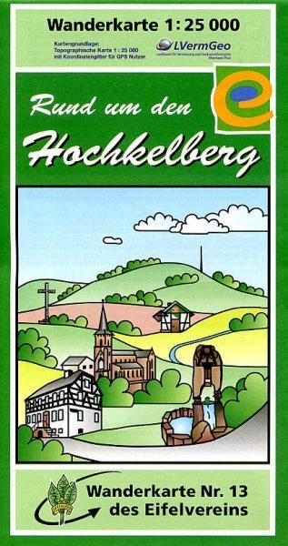 EV-13  Rund um den Hochkelberg | wandelkaart 1:25.000 9783921805411  Eifelverein Wandelkaarten Eifel  Wandelkaarten Eifel