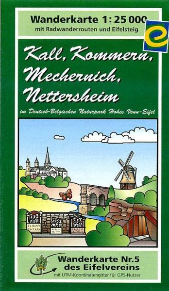 EV-05  Kall, Kommern, Mechernich | wandelkaart 1:25.000 9783921805541  Eifelverein Wandelkaarten Eifel  Wandelkaarten Eifel
