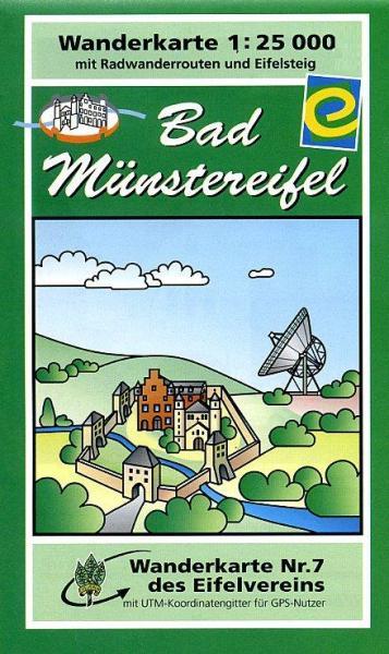 EV-07  Bad Münstereifel  | wandelkaart 1:25.000 9783921805725  Eifelverein Wandelkaarten Eifel  Wandelkaarten Eifel