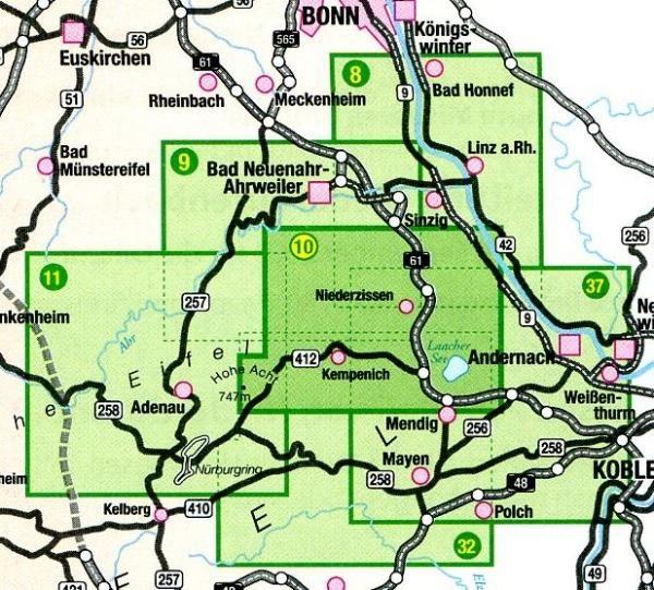 EV-10  Das Brohltal   wandelkaart 1:25.000 9783921805794  Eifelverein Wandelkaarten Eifel  Wandelkaarten Eifel