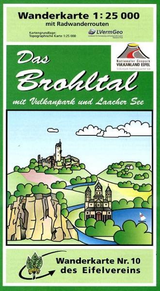 EV-10  Das Brohltal | wandelkaart 1:25.000 9783921805794  Eifelverein Wandelkaarten Eifel  Wandelkaarten Eifel