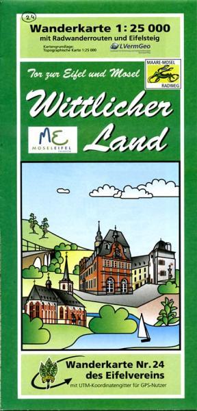 EV-24  Wittlicher Land | wandelkaart 1:25.000 9783921805831  Eifelverein Wandelkaarten Eifel  Wandelkaarten Eifel