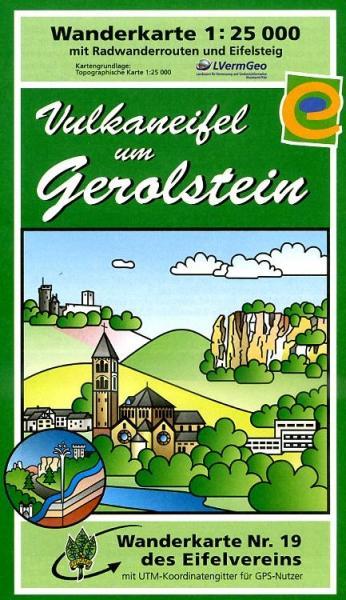 EV-19  Vulkaneifel um Gerolstein | wandelkaart 1:25.000 9783921805862  Eifelverein Wandelkaarten Eifel  Wandelkaarten Eifel