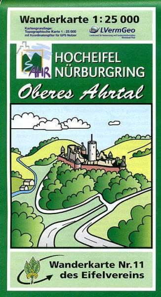 EV-11  Hocheifel/Oberes Ahrtal | wandelkaart 1:25.000 9783921805923  Eifelverein Wandelkaarten Eifel  Wandelkaarten Eifel