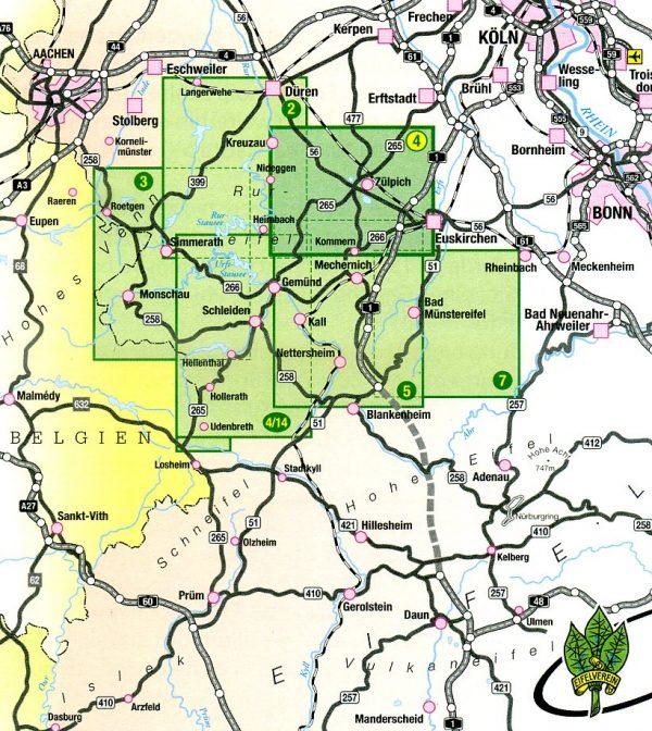 wandelkaart EV-04  Zülpicher Börde 1:25.000 9783921805961  Eifelverein Wandelkaarten Eifel  Wandelkaarten Aken, Keulen en Bonn, Eifel